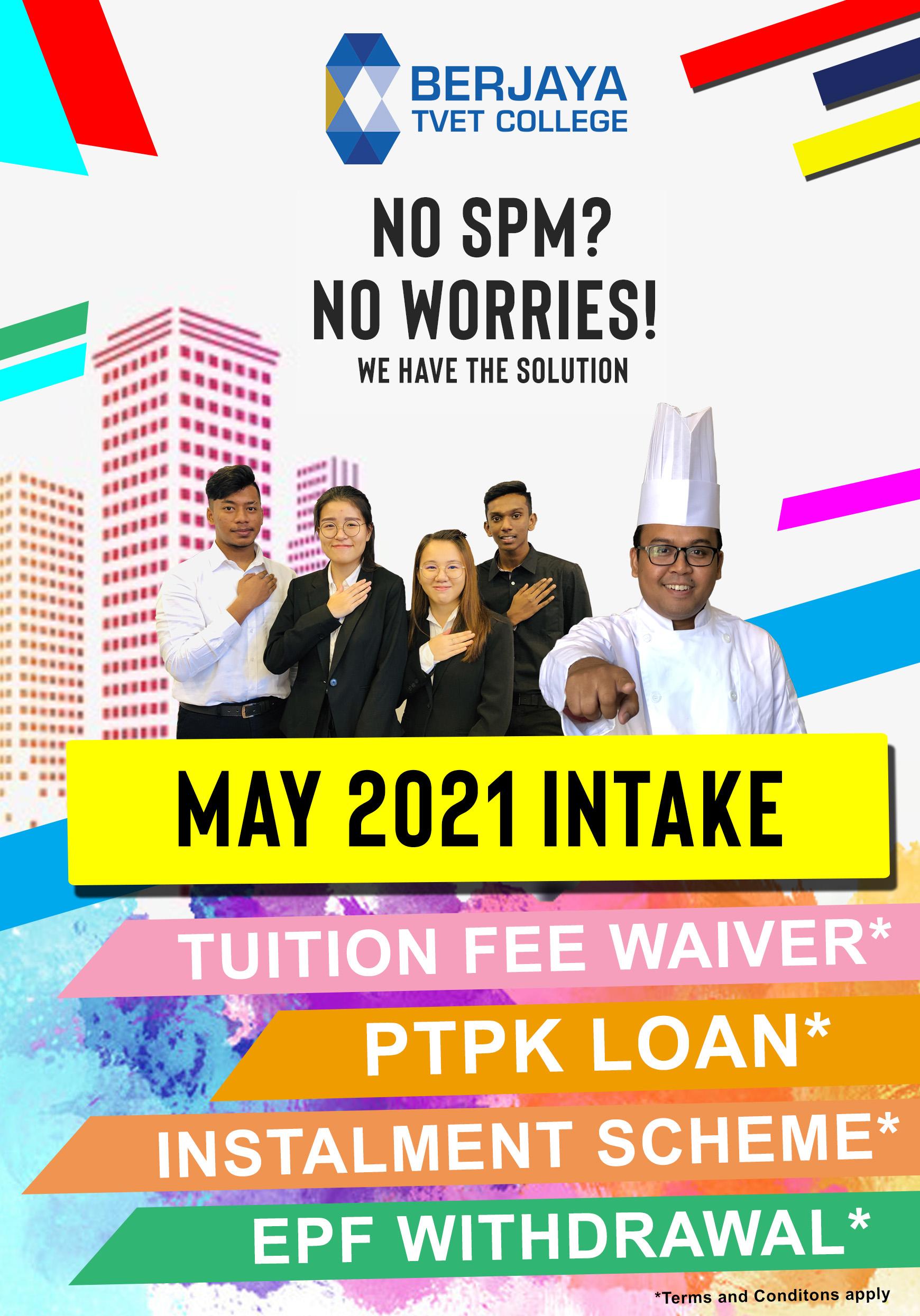 may intake 2021 no spm